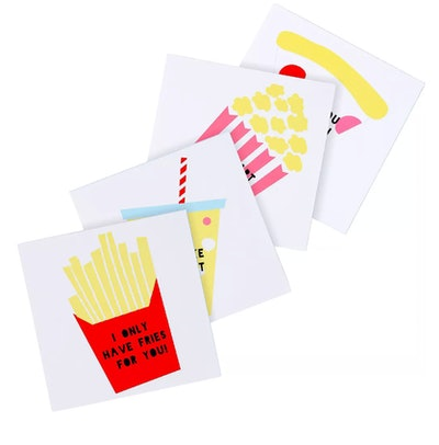Food Valentine Exchange Cards with Tattoos 24ct