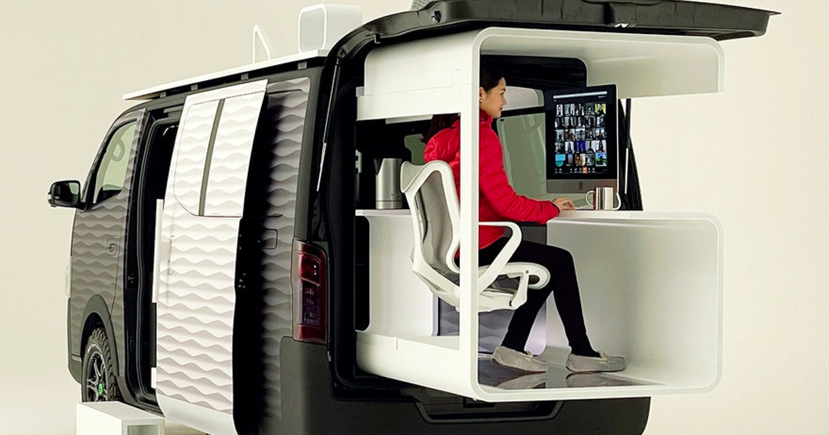 Ride Nissan's 'mobile office' concept van straight to the guillotine