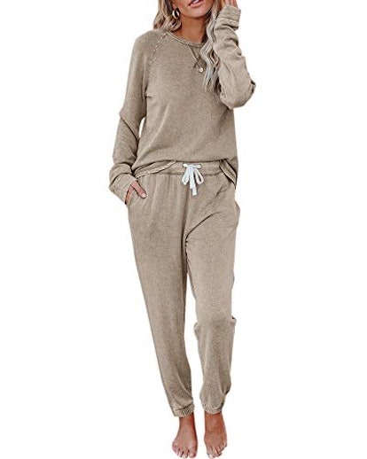 Eurivicy Solid Sweatsuit Set