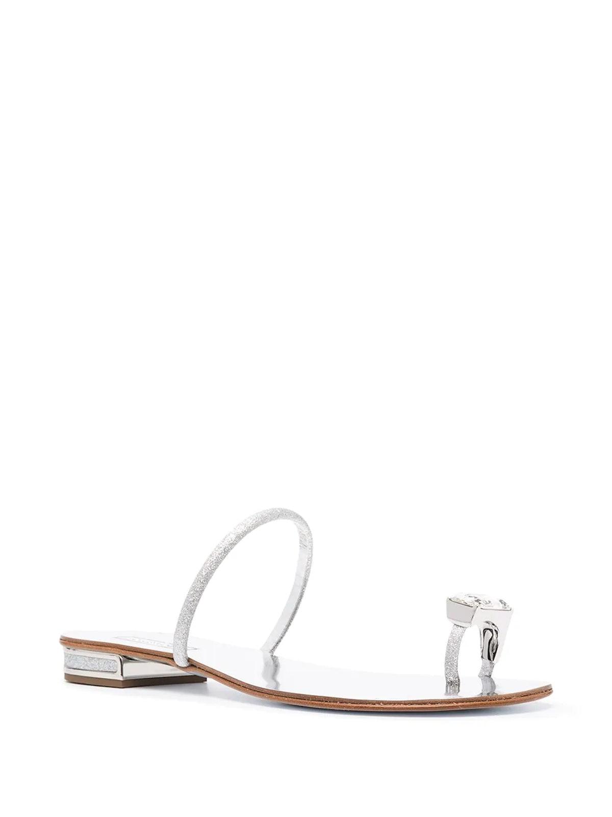 Crystal Toe Strap Sandals
