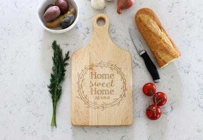 Custom Cheese Board With Engraved Personalization