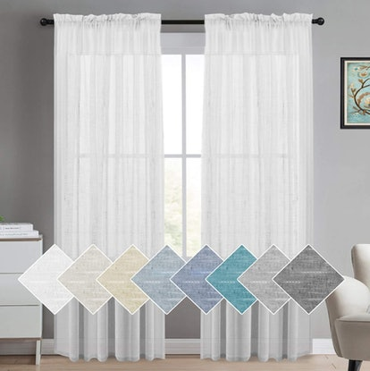 Turquoize Sheer Linen Curtains