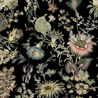 FLORA FANTASIA Wallpaper - Noir
