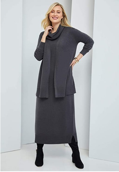 Jessica London Women's Plus Size Two-Piece Sweater Dress Suit