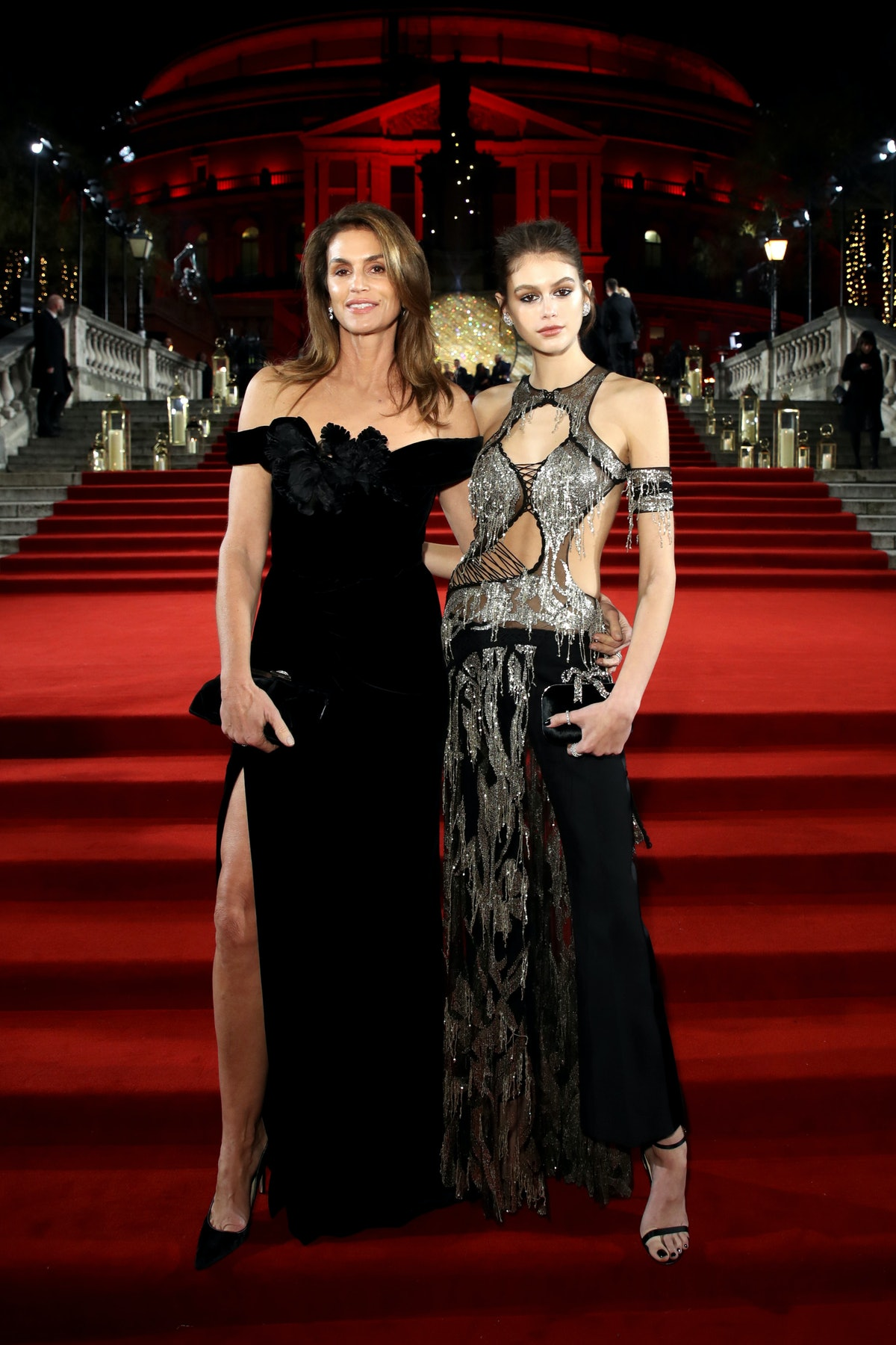 Cindy Crawford and Kaia Gerber arrive at The Fashion Awards 2018 In Partnership With Swarovski at Ro...