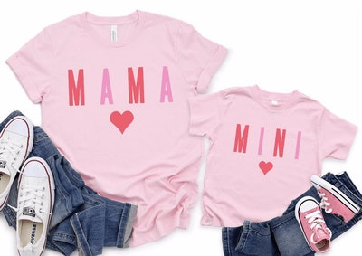 SymbolicImports Valentines Mommy and Me Matching Outfits - Mini Bodysuit