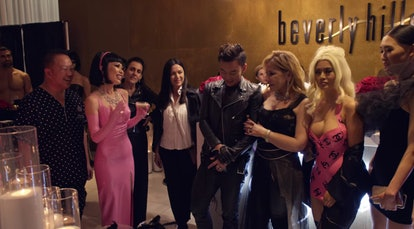 The cast of 'Bling Empire' at Christine's leather party
