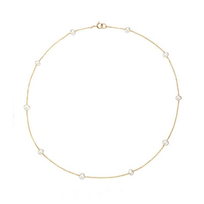 Gold Ten Pearl Choker