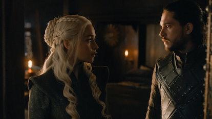 Daenerys Targaryen and Jon Snow. Photo via HBO