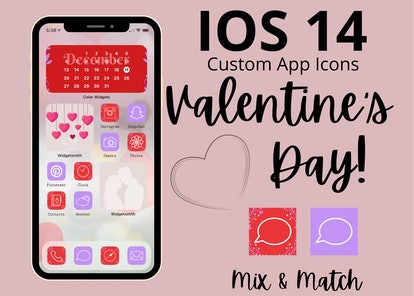 Colorful Valentine's Day iOS 14 Home Screen Pack