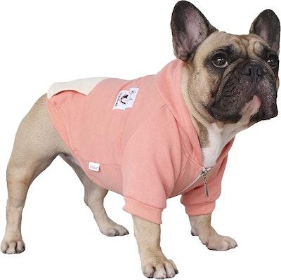 iChoue Dog Full-Zip Hoodie Sweatshirt