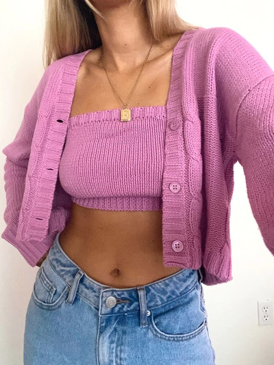 Cardigan & Tube Top Se