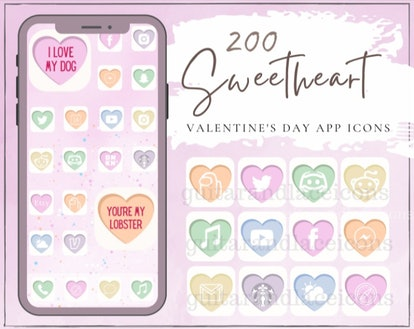 Sweetheart Valentine's Day iOS 14 App Idea Pack
