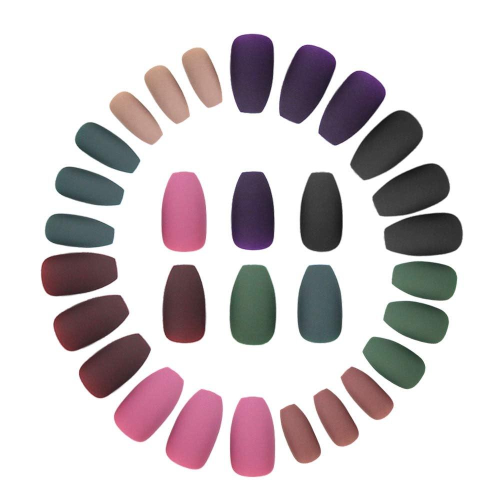 SOCU Matte Press On Acrylic Nails (8-Pack)