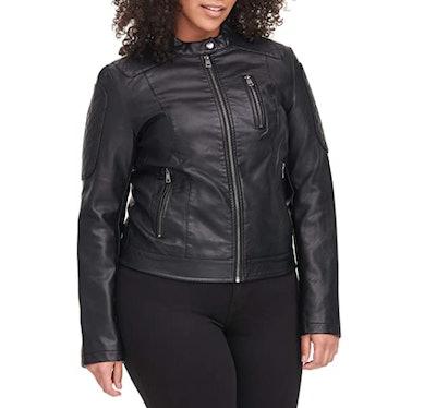 Levi's Faux-Leather Racer Jacket