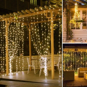 SUNNEST LED Curtain String Lights
