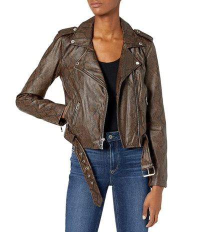 Levi's Faux-Leather Belted Motorcycle Jacket