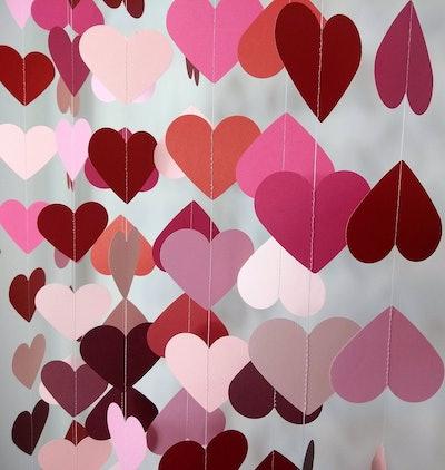 5 Pack Heart Garland
