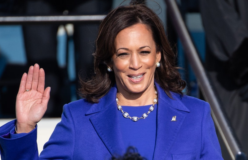 Kamala Harris wore a pearl necklace at the inauguration.