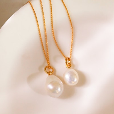 Nura Small Pearl Pendant Charm