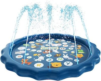SplashEZ 3-in-1 Sprinkler for Kids, Splash Pad, and Wading Pool for Learning