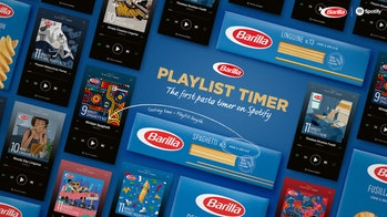 "Barilla's ""Playlist Timer"" is a series of Spotify playlists curated to match the cooking time for different pasta shapes."