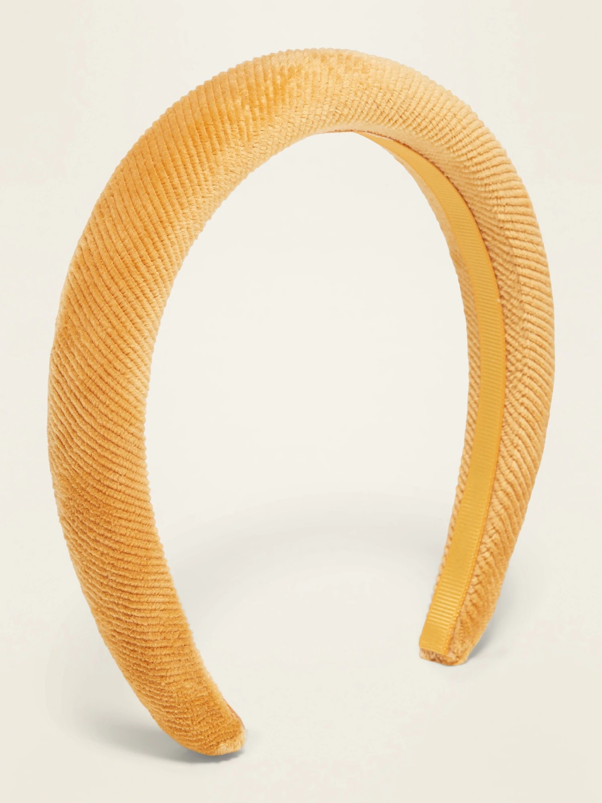 Old Nazy Wide Textured Velvet Headband for Women