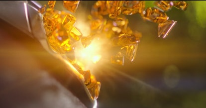 The Mind Stone shattering in 'Infinity War.'