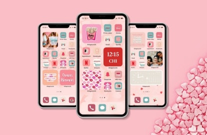 Galentine's Day iOS 14 Home Screen Idea Pack