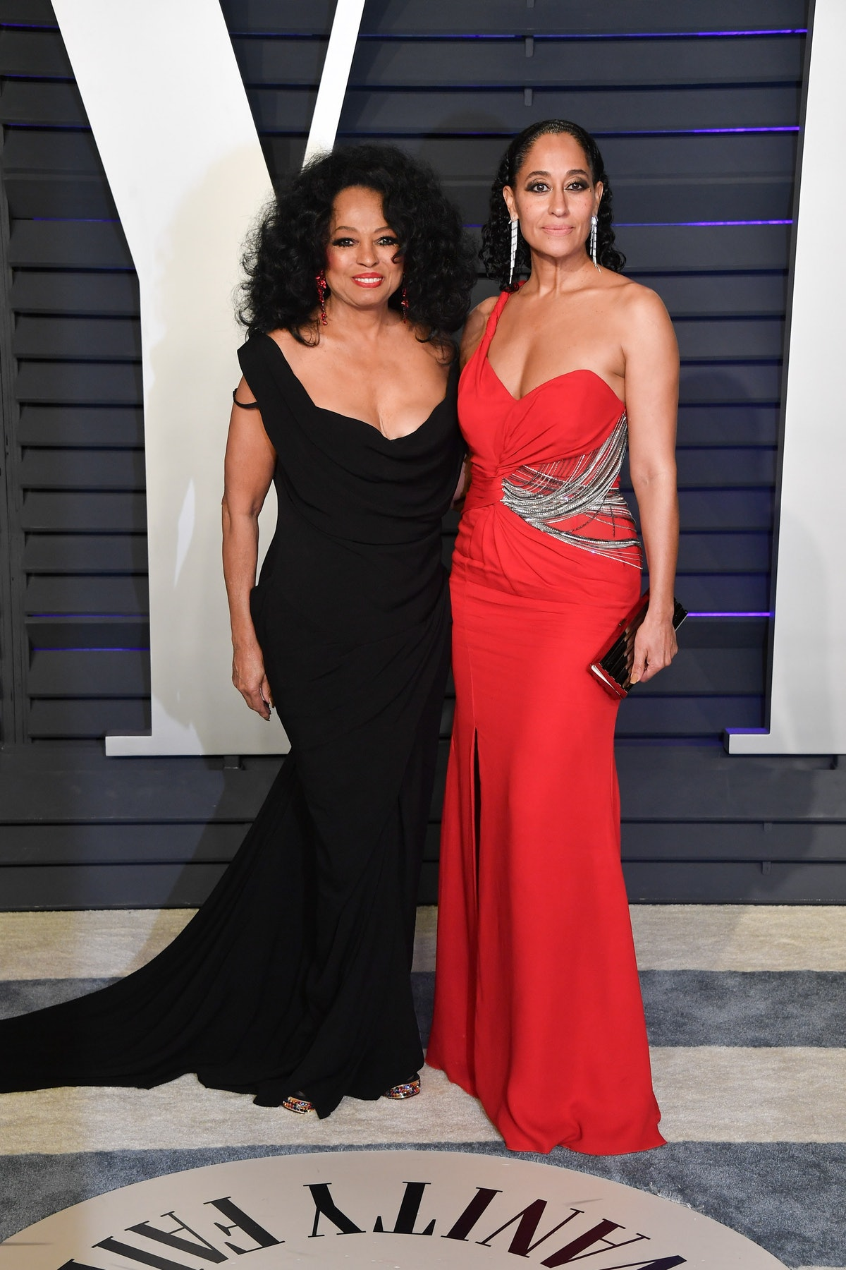 Diana Ross and Tracee Ellis Ross attend the 2019 Vanity Fair Oscar Party hosted by Radhika Jones at ...