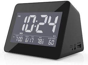 LIELONGREN Alarm Clock and Sleep Sound Machine