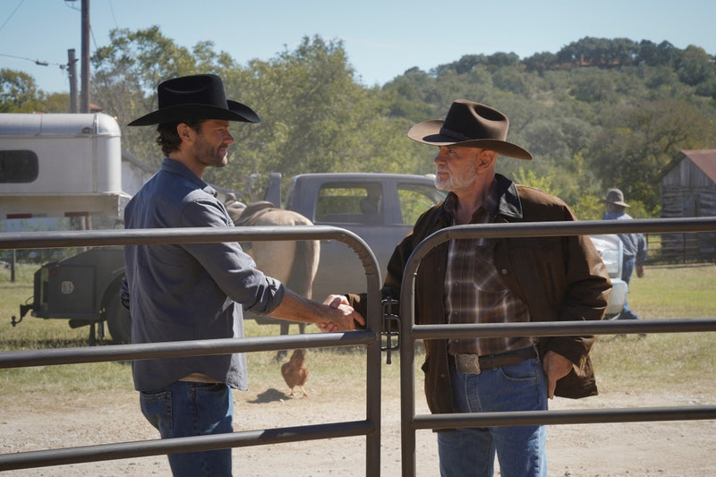 Jared Padalecki as Cordell Walker and Mitch Pileggi as Bonham Walker in 'Walker' via Viacom Press Si...