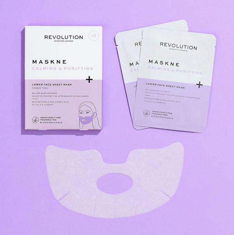 Revolution Skincare Mascare Maskne Lower Face Sheet Mask