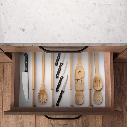 Homemaid Living Adjustable & Expandable Bamboo Drawer Dividers (4-Pack)