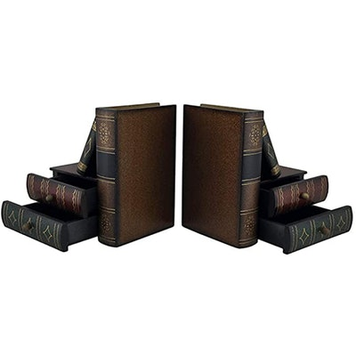 Bellaa Book Bookends With Drawers