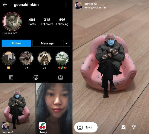This Bernie Sanders Inauguration Meme Instagram Filter Puts The Senator Anywhere You Go