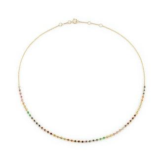 Rainbow Bezel Necklace