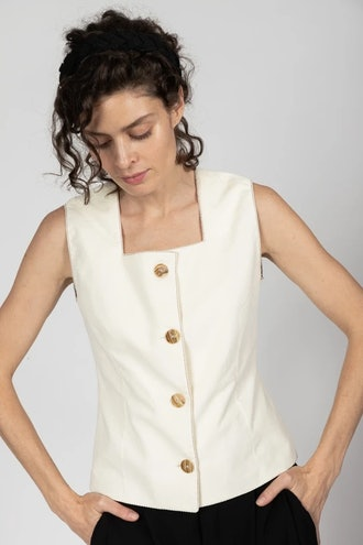 Mother Of Pearl Button Vest