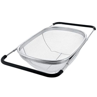 U.S. Kitchen Supply -  Over The Sink Stainless Steel Oval Colander