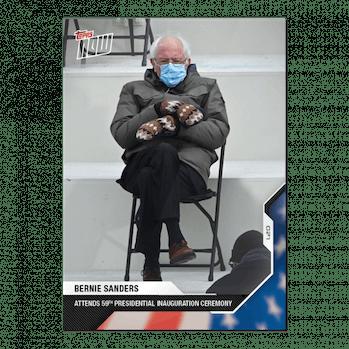 Bernie Sanders Topps Trading Card