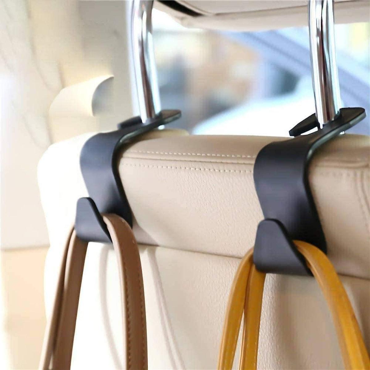 FJCTER Car Vehicle Headrest Hooks (4-Pack)