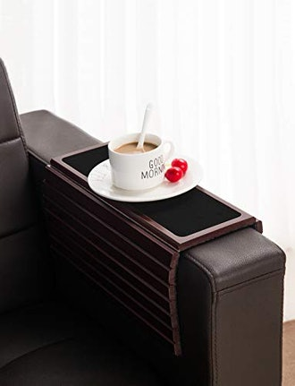 GEHE Bamboo Sofa Arm Tray Table