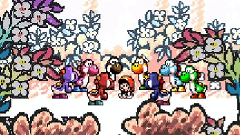 Baby Mario meeting the Yoshis. It's hard to imagine anything cuter.
