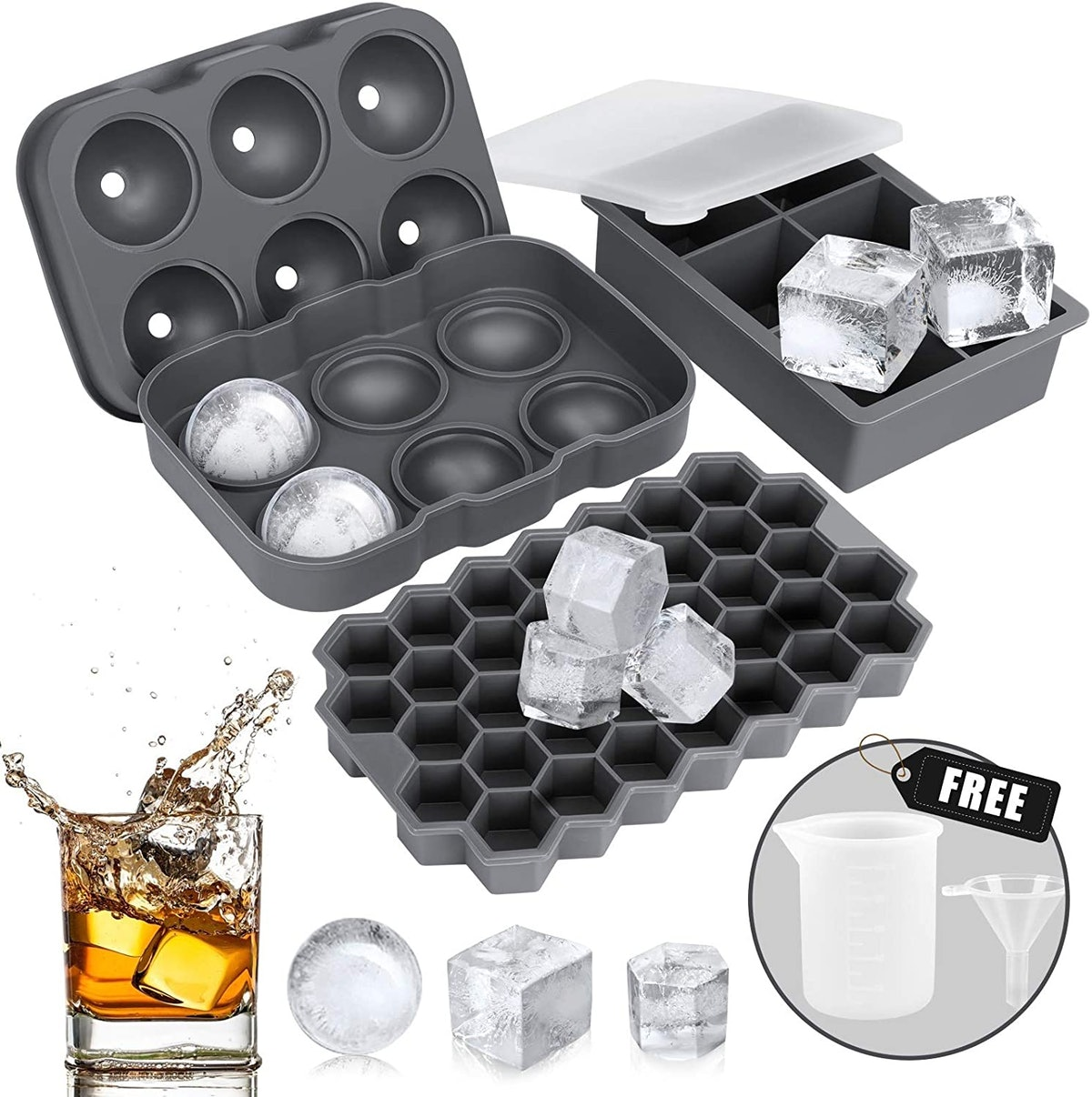 AiBast Silicone Ice Tray Set (3 Pack)