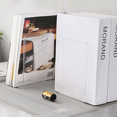 MerryNine Plastic Acrylic Bookends (Two Pairs)
