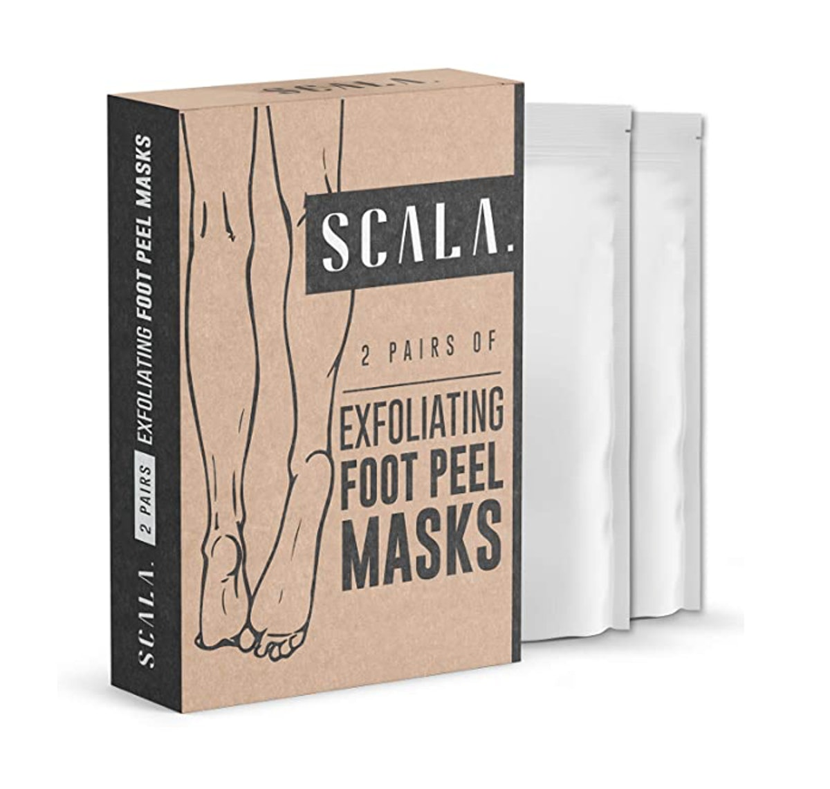 Scala Exfoliating Foot Peel Masks (2 Pairs)