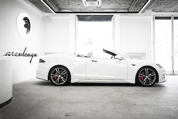 Ares Design converted a Tesla Model S into a convertible.
