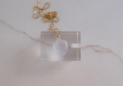 Vintage Heart-Shaped Lavender Jadeite Pendant