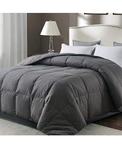 WhatsBedding Gray Goose Duck Down Comforter