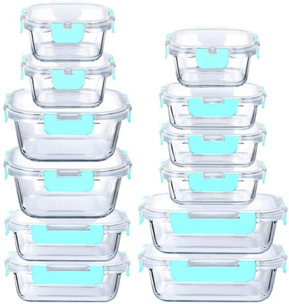 Sparc Lighting Glass Storage Containers (Set of 24)